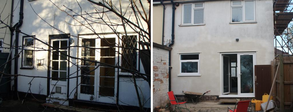 A complete house refurbishment including internal and for Bathroom builders leicester